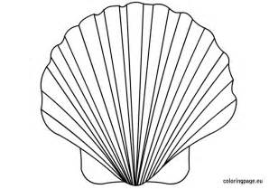 shell coloring pages shell coloring page