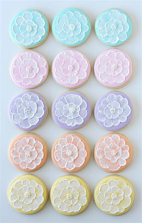 Cookie Decorations by Brush Embroidery Cookies Glorious Treats