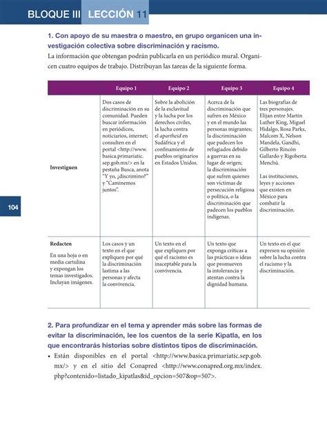 libro sep de formacion 6to libros de la sep 6 grado de formacion civica y etica 2016
