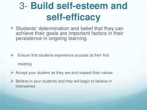 Self Efficacy In Based Learning Environments A Literature Review by Creating Supportive Learning Environment