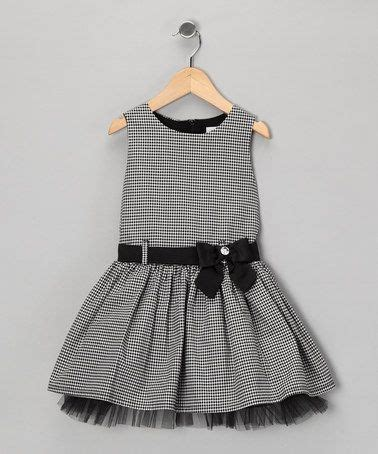 Ddp Skirt Kotak Kotak Grey take a look at this black ivory kotak bow dress toddler by donita on zulily today