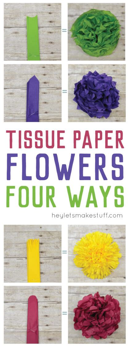 How Many Sheets Of Tissue Paper To Make Pom Poms - how to make tissue paper flowers four ways hey let s