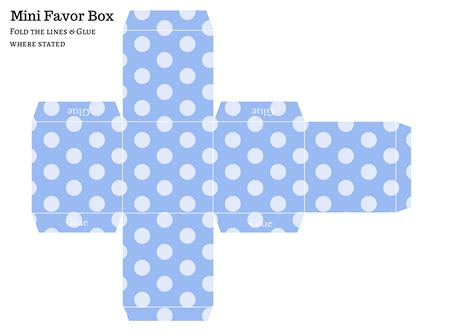 Favor Templates free diy favor box baby shower ideas themes