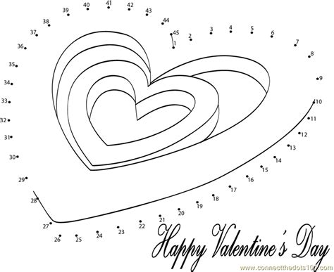 most popular valentines day dot to dot printable worksheet