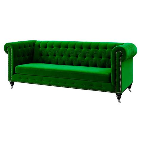 green velvet loveseat anthropologie lyre chesterfield replica sofa green velvet