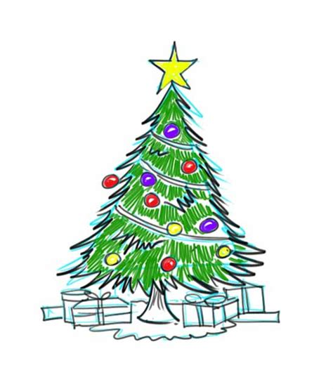 how to draw christmas tree how to draw a tree