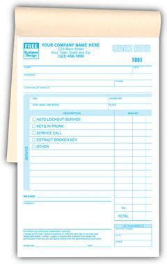 booked auto lockout locksmith work order forms size      ample room  list