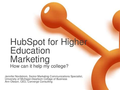 Marketing Education 1 by Hubspot For Higher Education Marketing