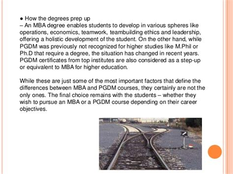Is Pgdbf Equivalent To Mba by Pgdm Vs Mba