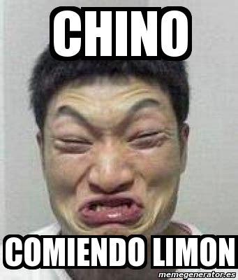 Chino Meme - meme personalizado chino comiendo limon 1376859