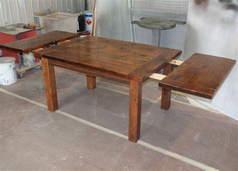 harvest dining table reclaimed harvest table standard end