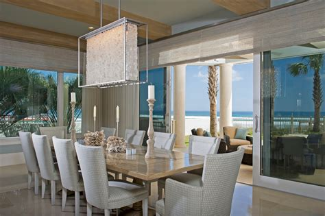 beach house dining room modern crystal chandelier dining room beach with beach