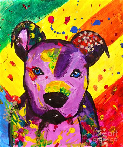 american pop artists american pitbull terrier pop painting by