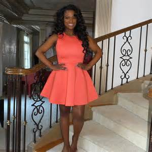 what kind of corset did kandi burruss wear for her wedding kandi burruss stuns in coral dress just weeks after