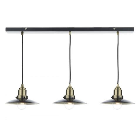 Dar Lighting Hannover Antique Brass Ceiling Bar Pendant Pendant Light Bar