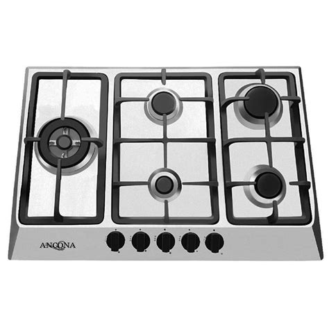 ancona 30 in gas cooktop in stainless steel with 5