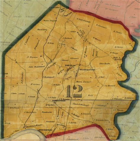 Washington County Md Judiciary Search Taggert A Map Of Washington County 1859 District 12