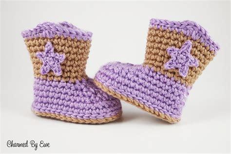 Sepatu Baby Boots Sweet Lil Baby Cowboy Boots Free Crochet Pattern