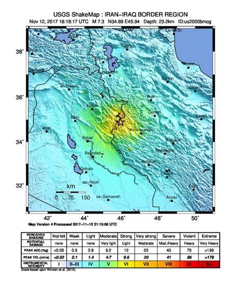 earthquake november 2017 extremely dangerous m7 3 earthquake hits iran iraq border