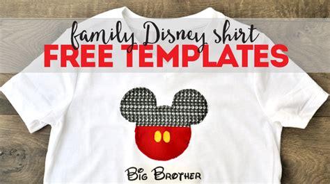 Diy Family Disney Shirts Bite Sized Biggie Diy Disney Shirt Template