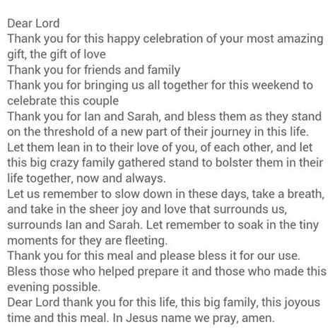 Wedding Blessing Prayer Dinner by Beautiful Rehearsal Dinner Prayer Other Wedding Stuff