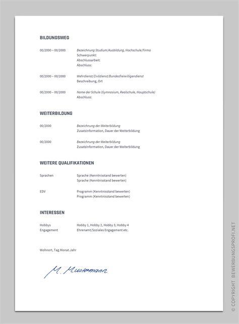 Lebenslauf Vorlagen Docs Bewerbung Vorlage Novus Bewerbungsprofi Net