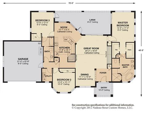 great room floor plans antigua signature floor plan nadeau stout custom homes