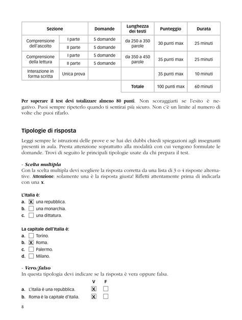 test italiano carta soggiorno awesome esempio test italiano per carta di soggiorno
