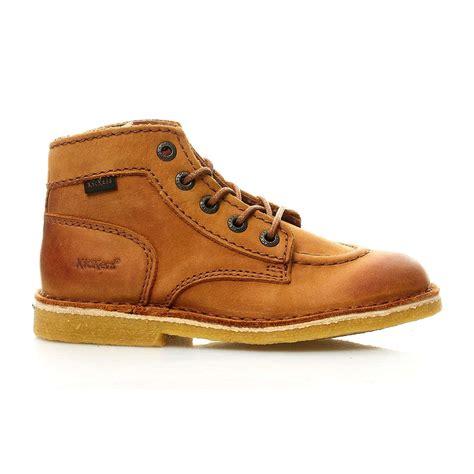 kickers kick legend boots en cuir camel brandalley