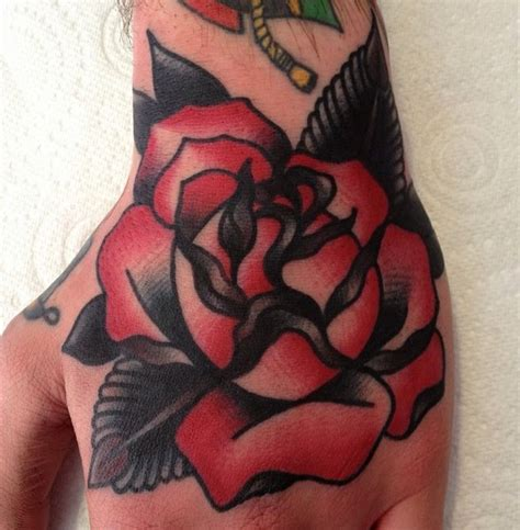 flower tattoo redone red black flower tattoo for hand and wrist