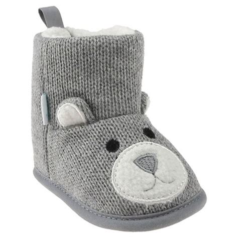 baby slippers target baby bootie slippers grey target