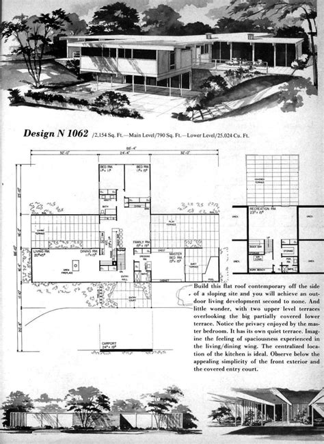 mid century floor plans homeplanners design n 1062 a photo on flickriver