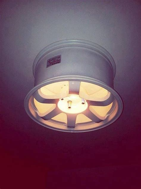 Ceiling L Idea Using A Racing Rim Diy Recycle Car Light Fixture