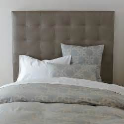new grid tufted leather headboard modern