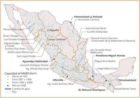 mapa de mexico con rios presas de m 233 xico presas m 225 s importantes de m 233 xico