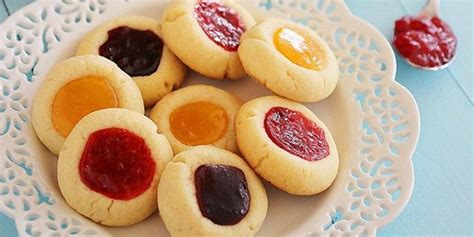Cookies Strawberry Thumbprint Kue Kering Lebaran resep kue kering thumbprint cookies vemale