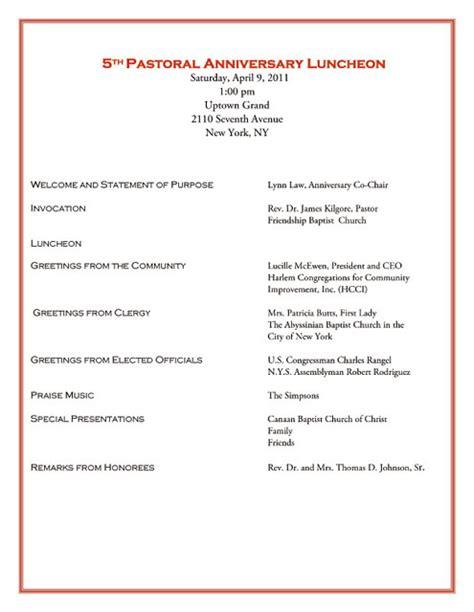 church anniversary program template template s