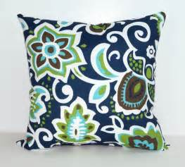 Navy And Brown Throw Pillows Faxon Oxford Outdoor Decorative Floral Throw Pillow In