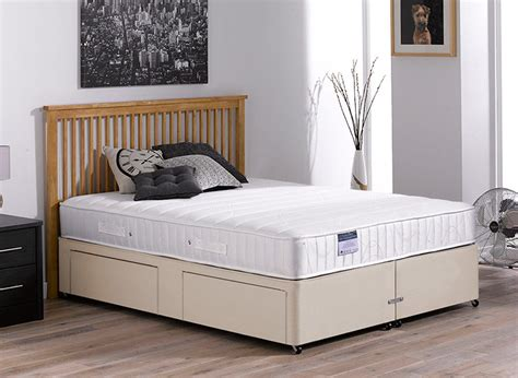 Kendall Pocket Spring Divan Bed Beige Medium Beds For