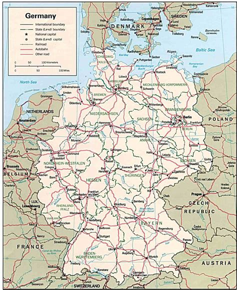 large map of germany maps
