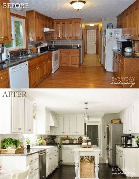 kitchen designs before and after enchanting pics above nina everyday enchanting diy painted oak kitchen cabinets