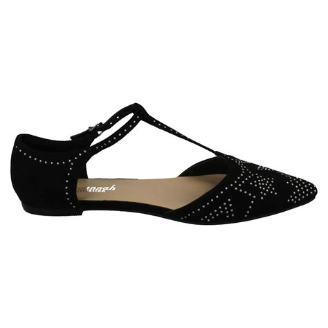 Flat Shoes 232 style 232 flat t bar buckle pointed