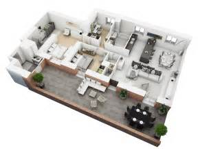 How To Find A Floor Plan Of A House 25 More 3 Bedroom 3d Floor Plans Architecture Amp Design