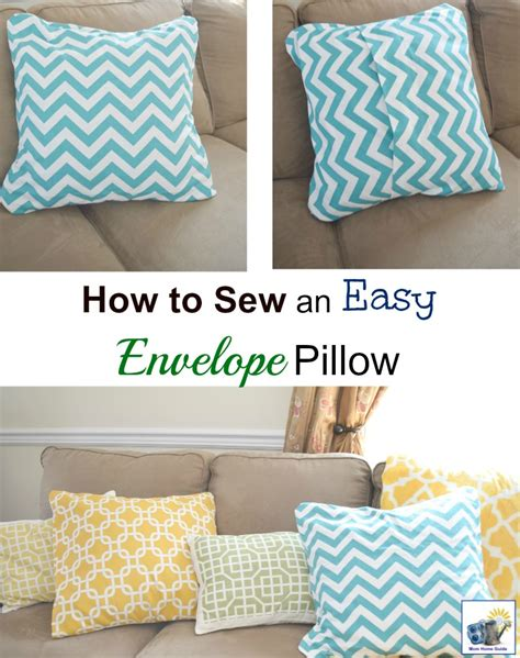 how to sew an easy envelope pillow cover momhomeguide