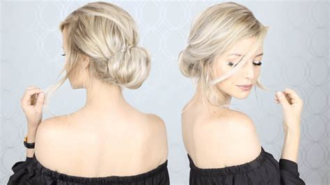 updos for medium hair easy instruction super simple updo perfect for long medium and short