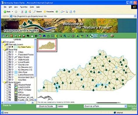 map kentucky park kentucky techlines ky state parks gis mapping