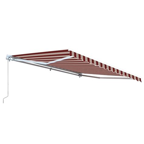 aleko awning installation aleko 13x10 ft retractable patio awning multistripes red