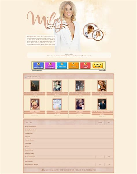 coppermine gallery themes free miley cyrus coppermine theme by unbrokengraphics on deviantart