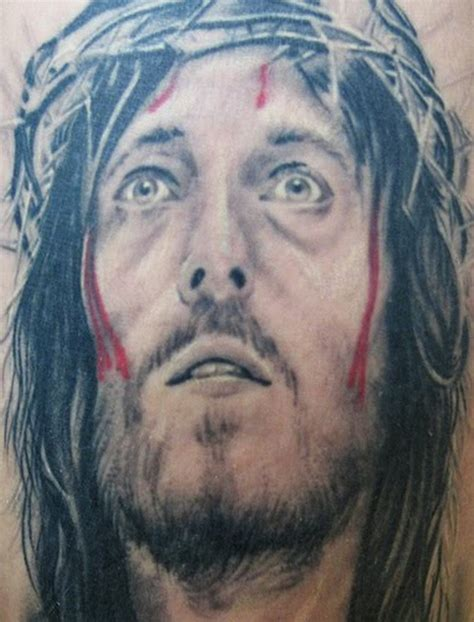 jesus portrait tattoo bleeding jesus portrait design 4 tattoos book