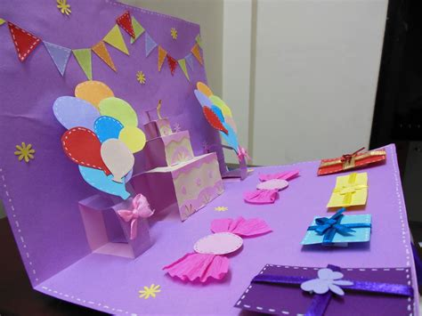 How To Make Happy Birthday Pop Up Card Template by Colors Of My Crafty World Happy Birthday Pop Up Card